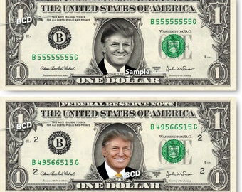 DONALD TRUMP on REAL Dollar Bill Cash Money Collectible Memorabilia Celebrity Bank Note