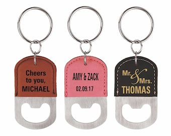 Bottle Opener Keychain - Personalized Groomsmen Gift - Gift for Family and Friends - Set of 3 Key chains Wedding Favors - Keychains