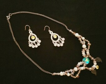 Swarovski beaded earrings and necklace set, get them as a set and save!
