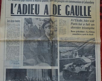 Farewell to General de GAULLE