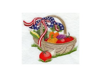 Star-Spangled Harvest - I Will Machine Embroider This Design On To Your Custom Item