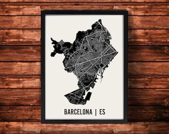 Barcelona Map Artwork | Map of Barcelona | Barcelona Spain Map | Barcelona City Map | Barcelona Poster | Barcelona Wall Art Print