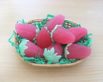 Strawberry Soap - 2 soap, creative handmade soap, Strawberry, nice soap, ripe strawberry, designer soap, strawberry gift, sweet berry