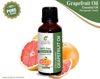 100% Pure Natural Grapefruit Essential Oil - Sheer Essence - Therapeutic Grade Grapefruit Oil 5ml To 500ml Free Shipping Worldwide