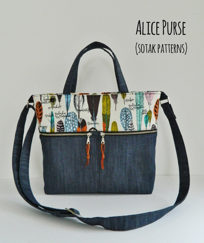 Pdf bag pattern purse instant download alice purse pdf zoom jeuxipadfo Choice Image