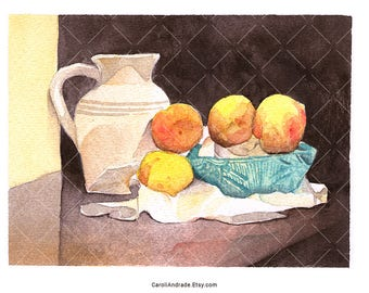 Peaches 01 – Original Watercolour