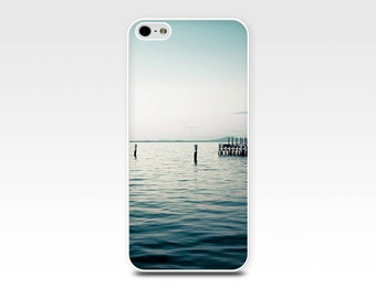 beach scene iphone case 5s nautical iphone case 6 fine art iphone case 4s iphone 4 case teal iphone 5 case blue sunset water ocean case navy