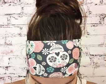 Sugar Skulls - Multi Color - Eco Friendly Yoga Headband