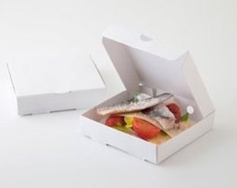 """20 Mini White Pizza Boxes, Gift Box, Food Box, Party Favor,  3.5 x 3.5"""" Made from Cardboard"""