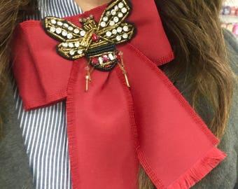 Neck Fashion Bows Gucci Inspired Bee Unique!