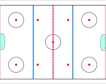 Hockey Rink Personalized Placemat