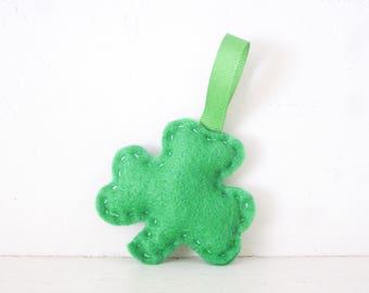 SHAMROCK - Spring Green Shamrock ORNAMENT - Shamrock Ornament - Irish Baby Shower Favors - Irish Wedding Favor - Irish Party Favor Decoratio