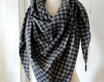 Plaid Flannel Triangle Blanket Scarf