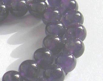 6 beads purple AMETHYST gemstone 10 mm