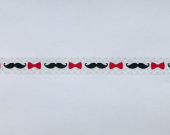 "Mustache and Bow Ties Washi Tape - 24"" sample - Fun Washi, Wedding Washi"