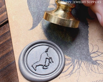 Buy 1 Get 1 Free - 1pcs Horse Gold Plated Wax Seal Stamp (WS032)