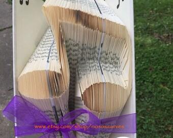Music Note 3 Folded Book Art Pattern