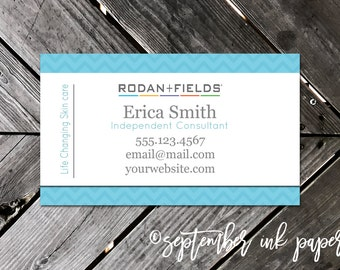 Rodan + Fields Business Card - RF Marketing - Advertising - Independent Consultant Resources