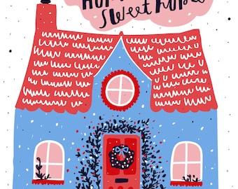 Zollamt Porträt - Haus Illustration - personalisierte Haus Zeichnung