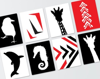 Black, White and Red 12 Contrast Art Cards: 8-1/2 x 11 inches pdf