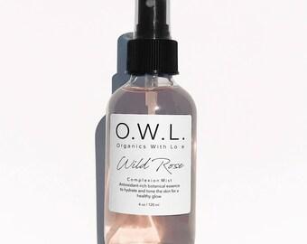 Organic Rose Water|Facial Toner|Facial Mist|Antioxidants|Natural|Vegan|Hydrating|Balancing|Non-Toxic|Botanical