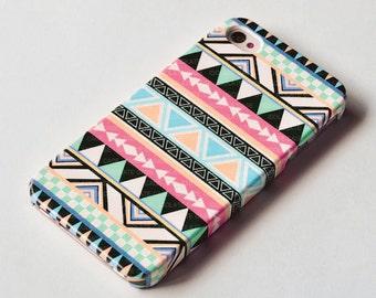 Pastel Aztec Geometric iPhone 6 case , iPhone 5s case ,geometric iPhone 4s cover