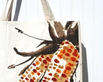 Indian Corn Autumn Tote Bag - Farmers Market Bag - Shopping Bag - Autumn