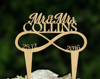Infinity cake topper, Rustic Cake Topper, Rustic Wedding Topper, Initials Cake Topper, Infinity Love Cake Topper, Cake Topper Infinity
