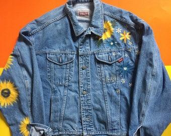 Sunflower Sleeve Combo Denim Jacket