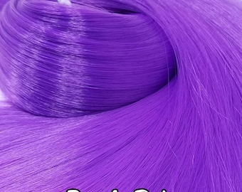 Purple Rain Bright Purple Nylon Doll Hair Hank for Rerooting Barbie® Monster High® Ever After High® My Little Pony Fashion Royalty Disney