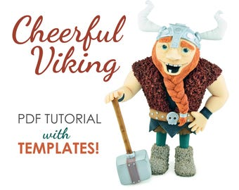 Cheerful Viking Cake Topper TUTORIAL with TEMPLATES