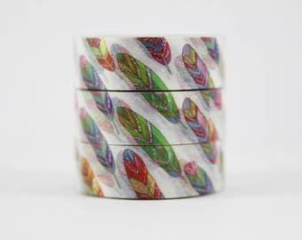 Washi tape colorful Feathers masking tape