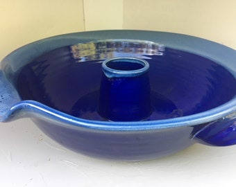 Tumbleweed Pottery CHICKEN ROASTER -Cobalt Blue - Extraordinary !