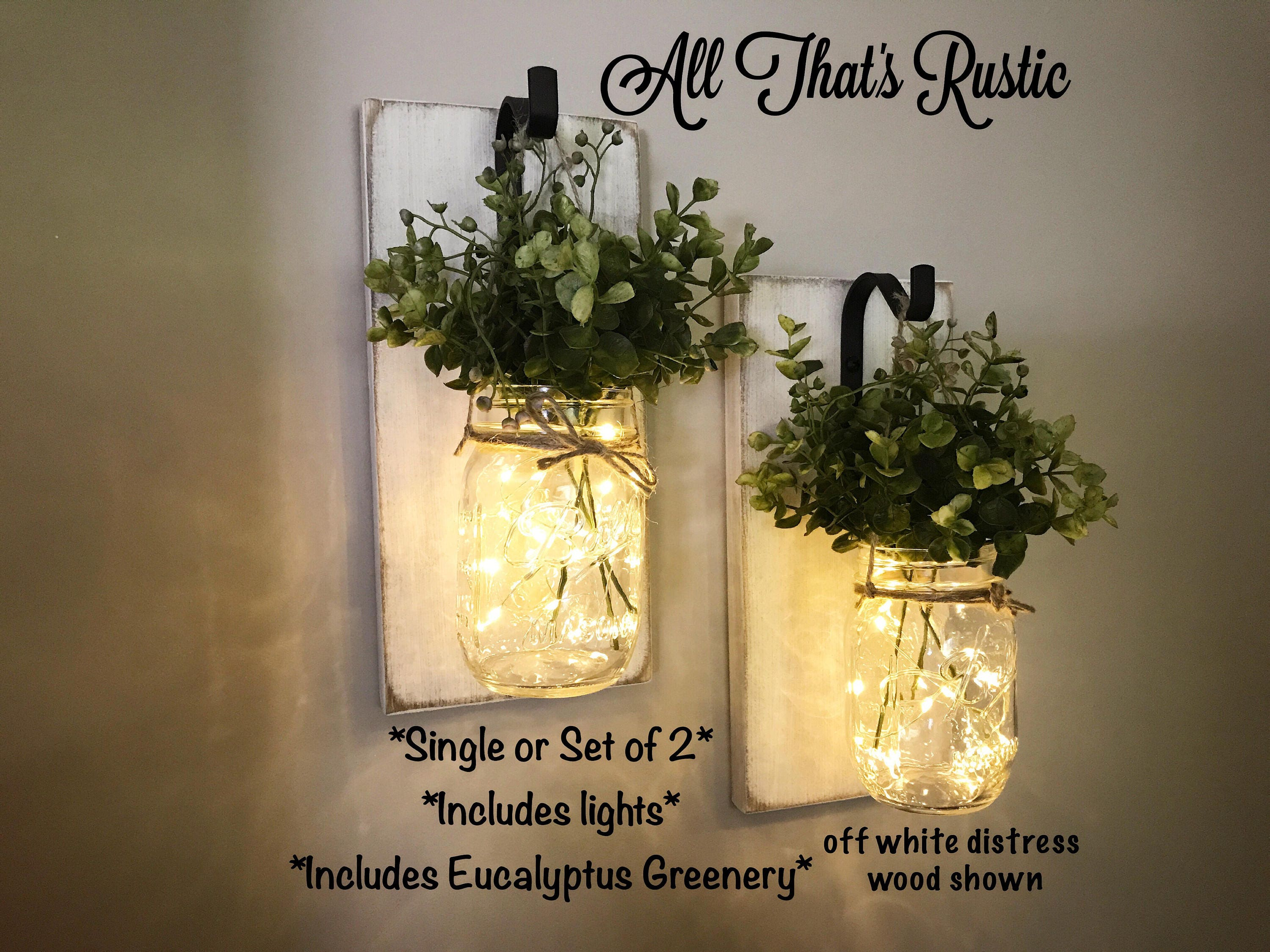 Stunning Wall Sconce Wall Decor Home Decor Mason Jar