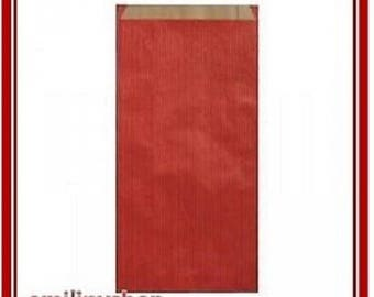 lot 10 pouches bags bags envelopes kraft 7 x 12 red