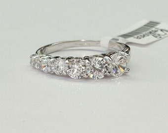 925 Sterling Silver Nickle Free Rhodium Plated CZ Wedding/Anniversary Band Ring size 5,6,7,8,9