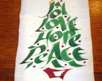 Flour Sack Kitchen Towel Christmas Tree