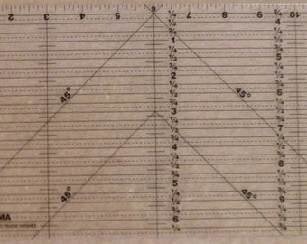 Big Mama Rectangle Quilting RULER, 6 1/2 x 12 Inch Fast Shipping  TR128