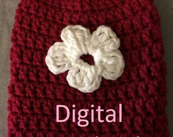 """NEW** Crochet Pattern Flower Cast Sock/Toe Cover - Digital PDF Download. Make one or two as a """"Get well"""" gift!"""
