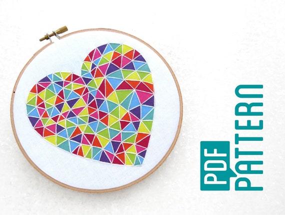Beginner Embroidery Pattern Easy Hoop Art Tutorial Pdf