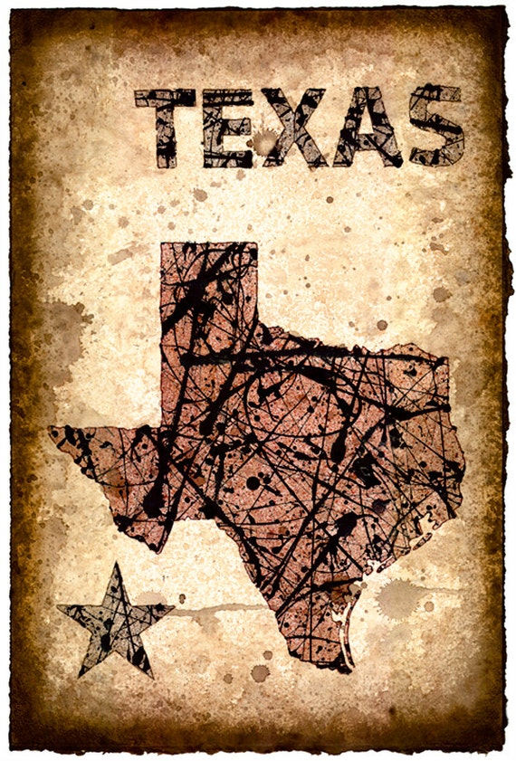 Old Texas Map Prints