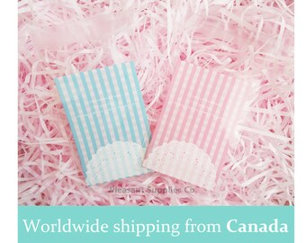 10 Mini Cookie Bags with seal - pink or blue