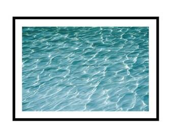 Pool Print, Pool Side Photography Print, Pool Water, Poolside Wall Art, Aqua Blue Water, Water Print