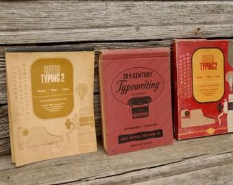 Typewriting manuals,hardcover secretarial books, typing books,Gregg typing books, office books, vintage books