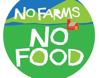 no farms no food bumper sticker