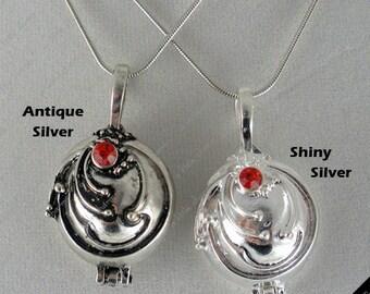 Cosplay ~ Vampire Diaries Elena's Vervain Antique Silver Locket Vintage Necklace