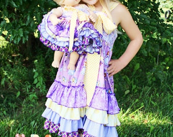 Keeley's Doll Size Ruffled Bow Dress PDF Pattern for 15- and 18-inch dolls
