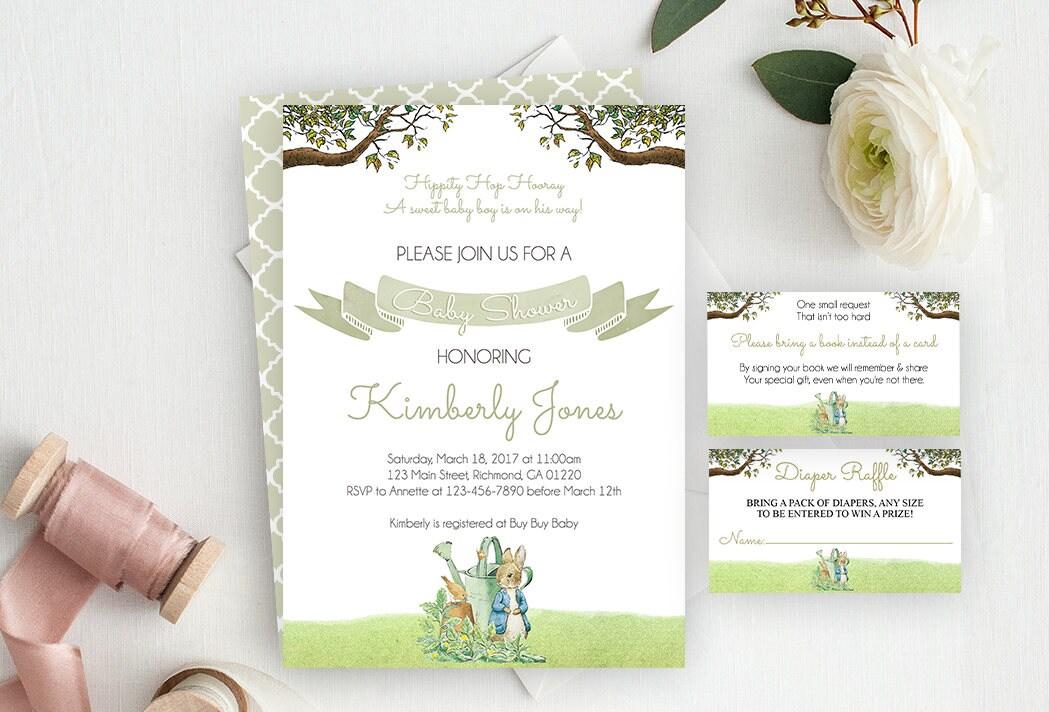 Peter Rabbit Baby Shower Invitation / Peter Rabbit Baby Shower ...