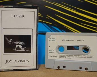 Closer (RARE Italian Pressing) by Joy Division Vintage Cassette Tape