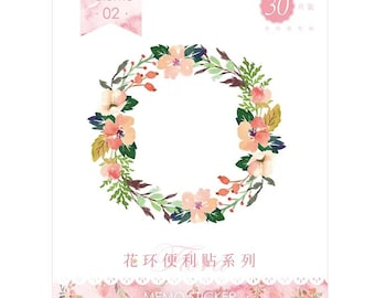 Floral Wreath Sticky Notes • Flower Volume 02 Sticky Notes • Planner Supplies